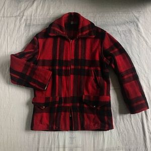 Vintage Red and Black Buffalo Plaid Jacket